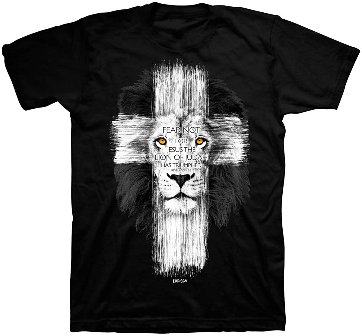 Lion Cross T-Shirt - Christian Fashion Gifts