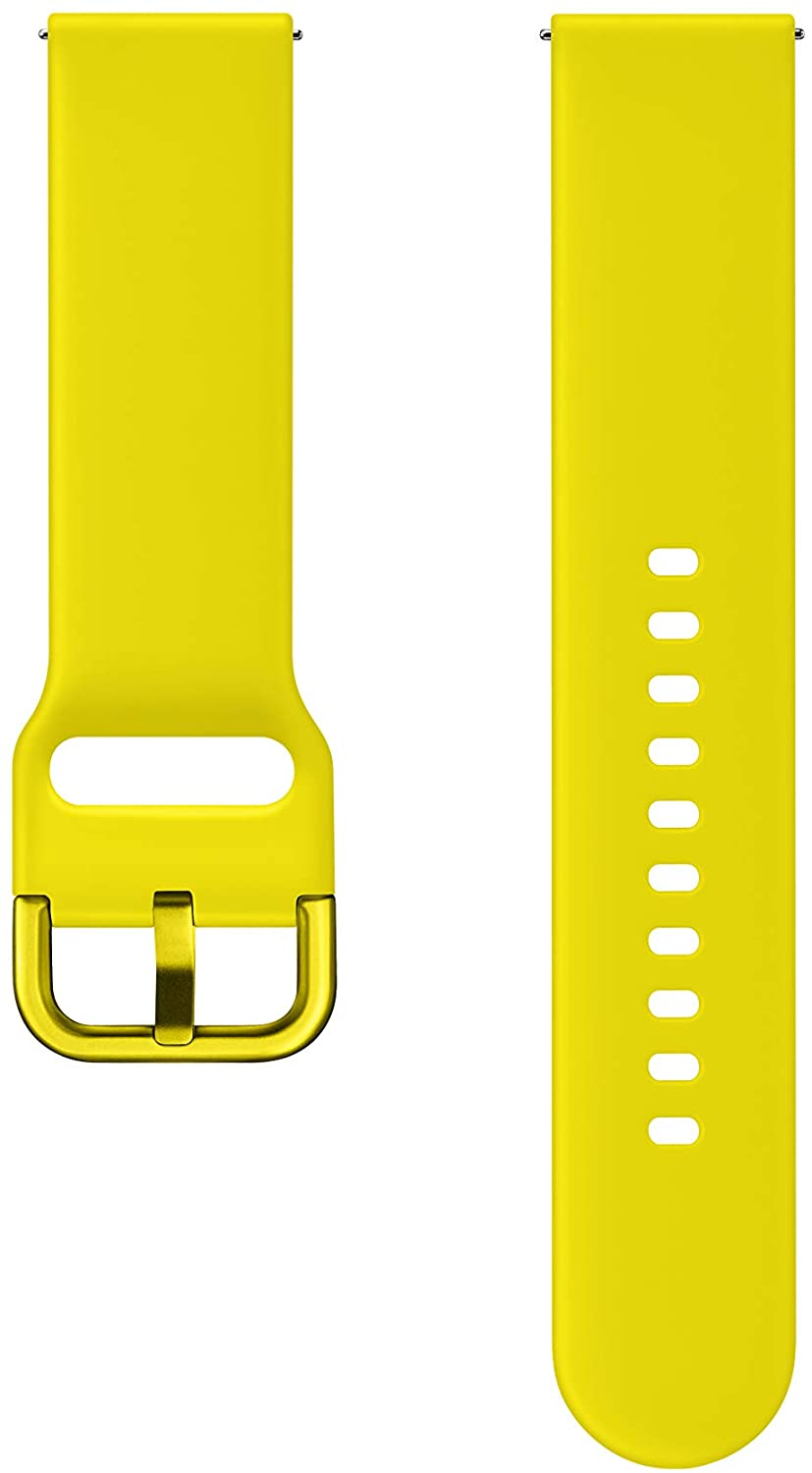 Samsung Official Original 20mm Strap for Samsung Galaxy Watch Active Sport Strap (Yellow)