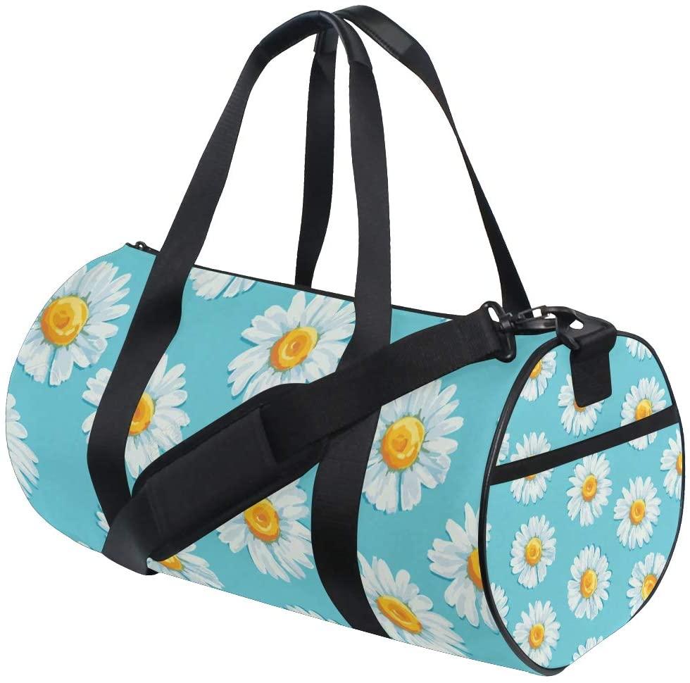 SLHFPX Sports Bag Daisy Mens Duffle Handbag Travel Table Tennis Bags Gym bag