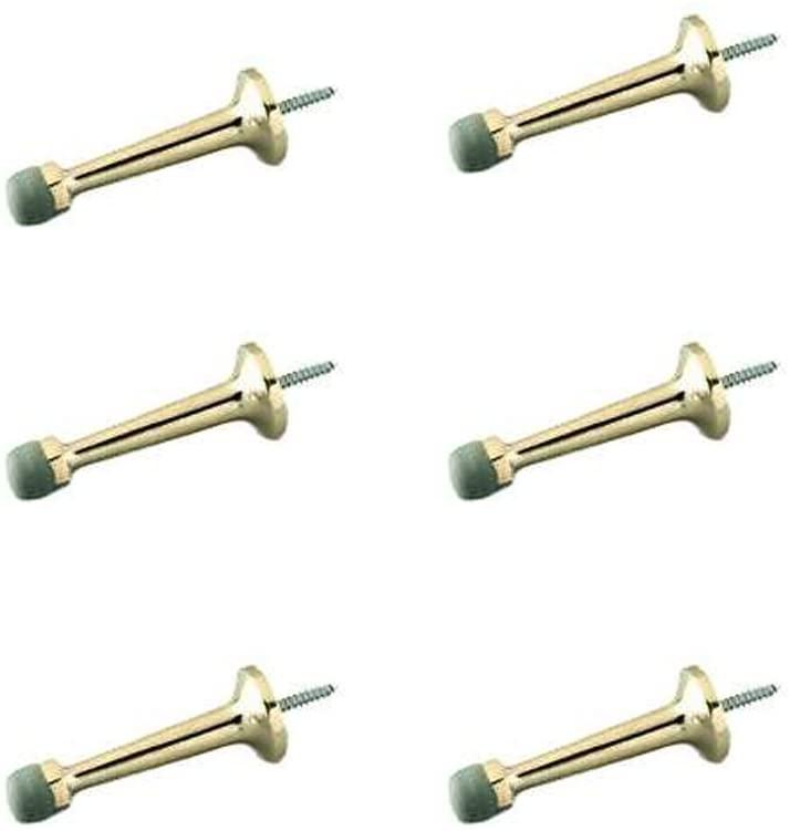 3 Solid Brass Rigid Door Stop Quantity 6