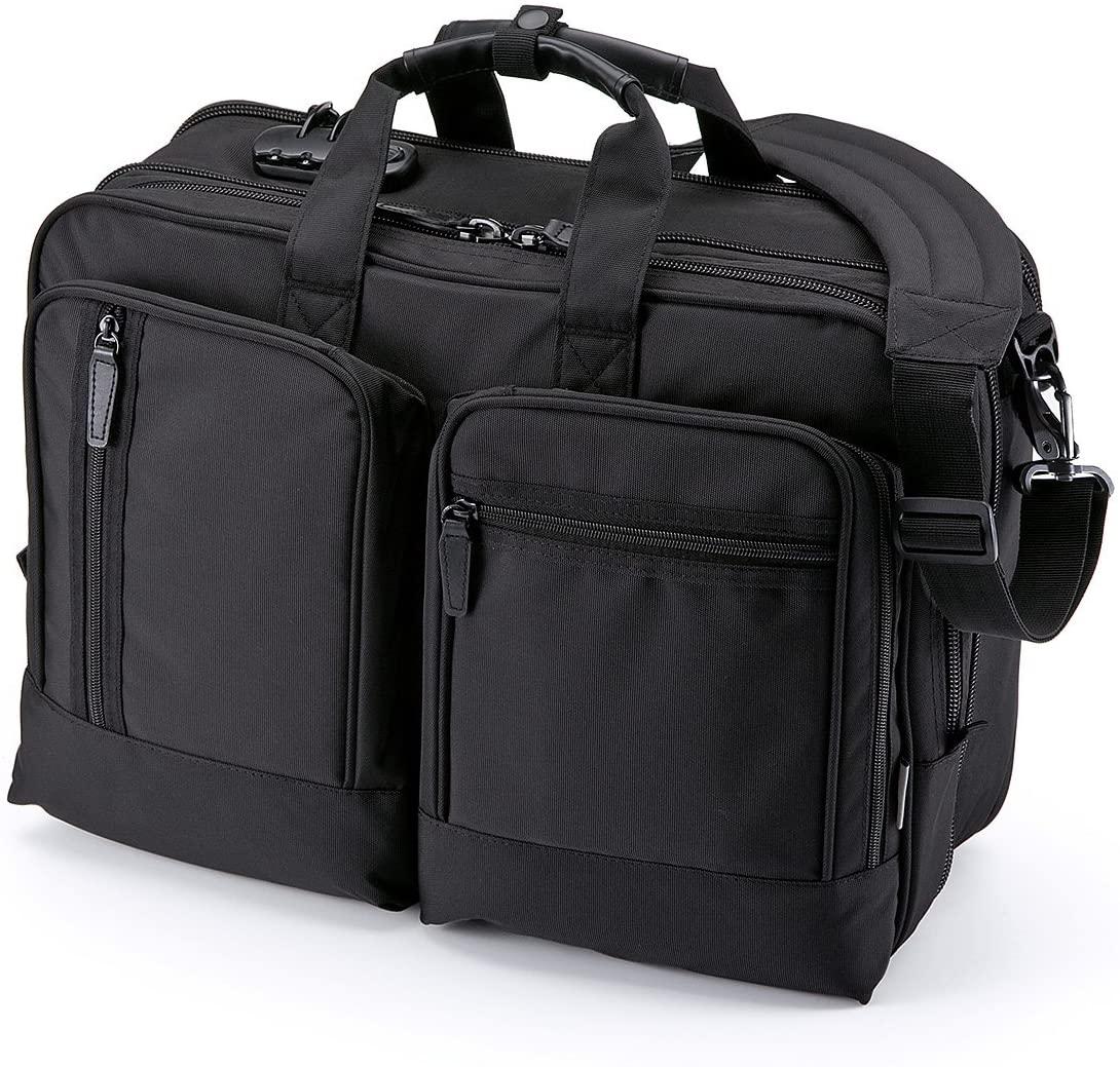 SANWA (Japan Brand) 15.6 inch Laptop Computer & Tablet Bag, 31.8L Expandable Business Briefcases, Combination Lock, Handbag Shoulder Large Travel Backpack for MacBook iMac Dell HP Men Women