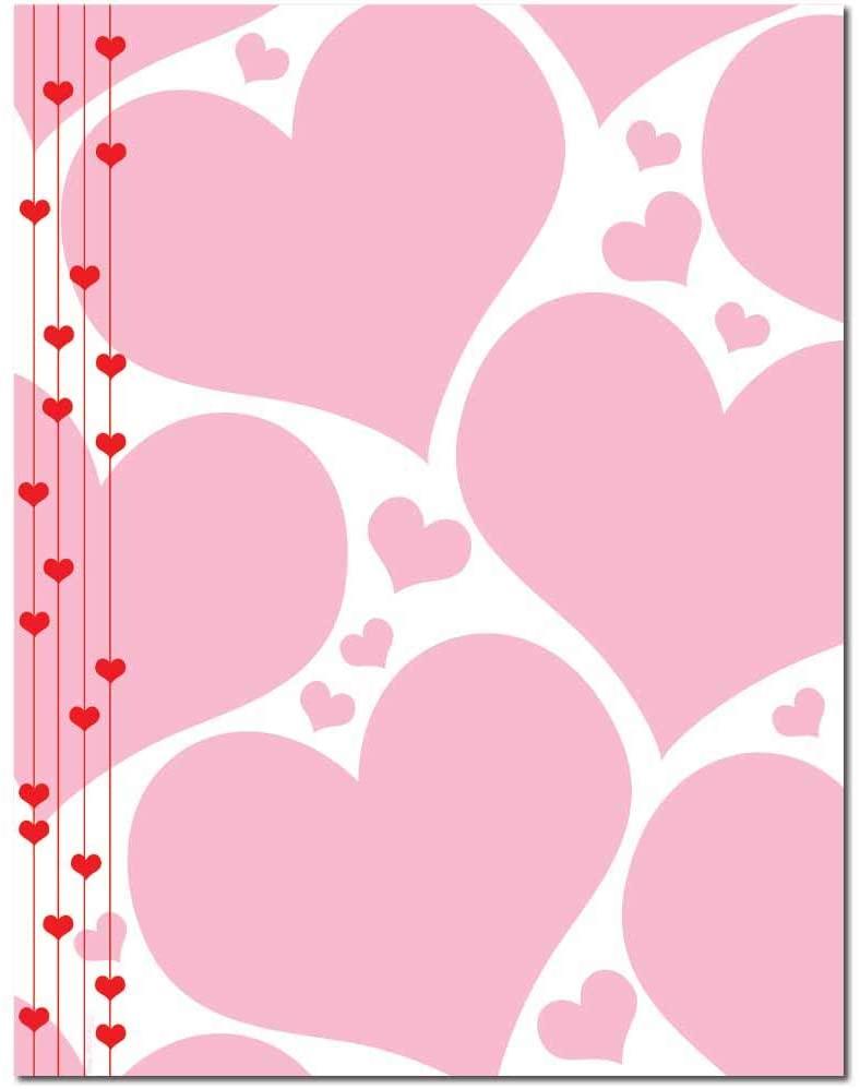 Heart Strings Letterhead Laser & Inkjet Printer Paper (100 Pack)