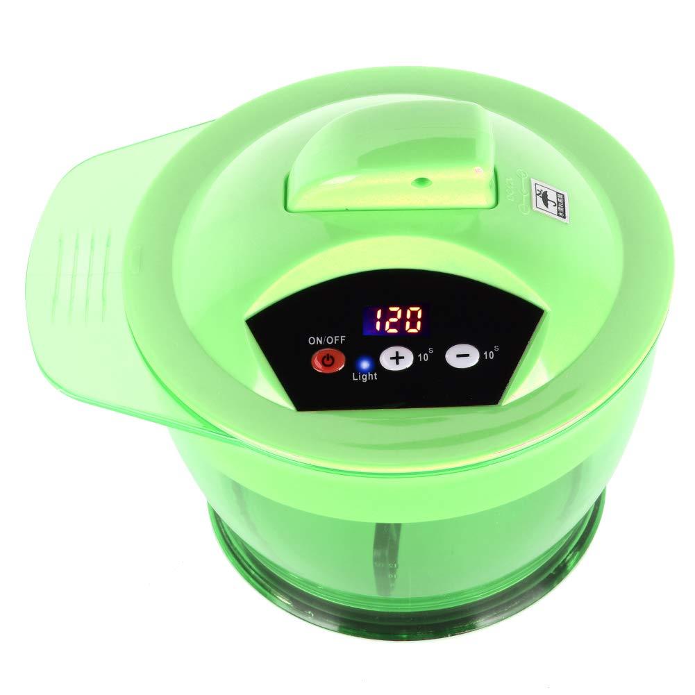 Electric Hair Coloring Bowl?Hair Art Dyestuff Automatic Mixer Blender Household Hair Dye Cream Mixing Bowl Kit(Green)