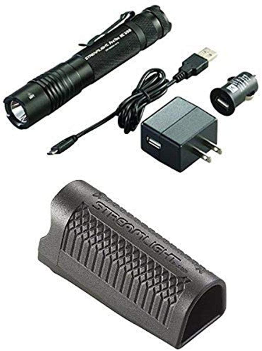 Streamlight Lumen Professional Tactical Flashlight with High/Low/Strobe with USB Charger and Tactical Holster