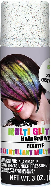 Amscan Glitter Hair Spray 3oz Multicolor