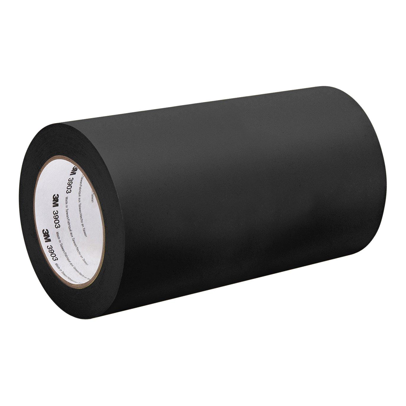 3M Black Vinyl/Rubber Adhesive Duct Tape 3903, 15-50-3903-BLACK 12.6 psi Tensile Strength, 50 yd. Length, 15