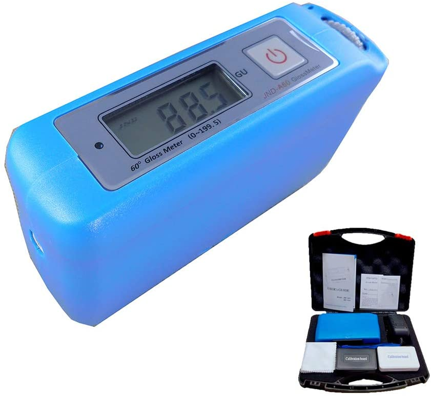 Gloss Meter 60 Degree Gloss Test for Printing Ink Paper Plastic with Calibration Board Range 0.0 to 199.5GU