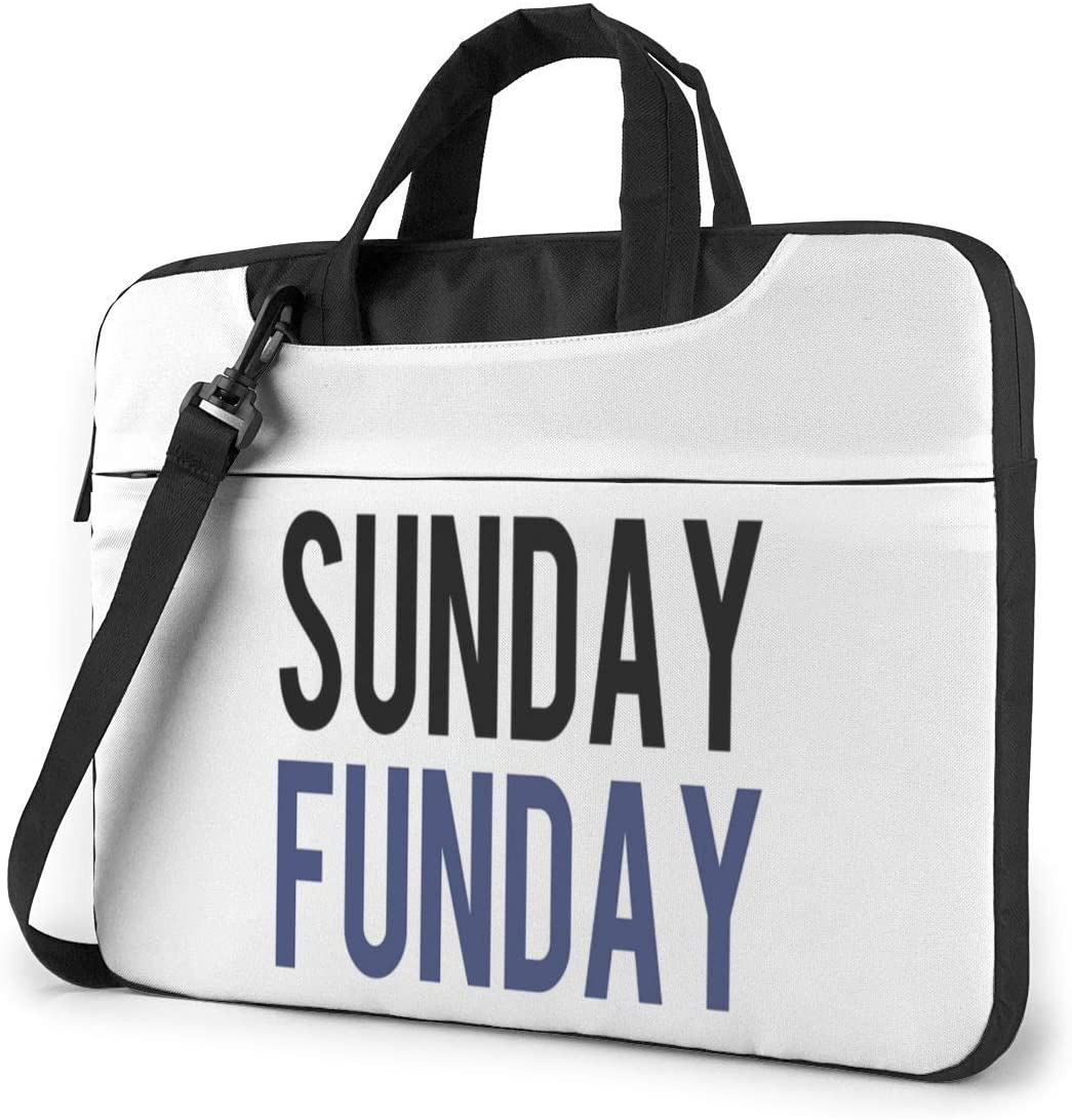 N/C Sunday Funday Waterproof Laptop Shoulder Messenger Bag, Computer Protective Case, Briefcase, Unisex, Exquisite Style.15.6 Inch