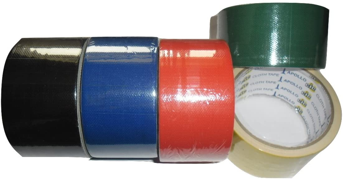 48 mm / 1.9 inch X 6 Yards Self Adhesive Cloth Gum Tape for Book Binding - Pack of 5 Rolls