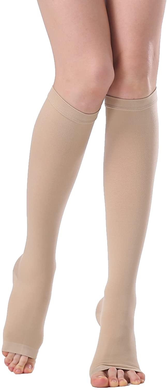 KOOCHY Knee-Hi Compression Socks - Graduated Compression Stockings - Compression Support Hose for Men Women