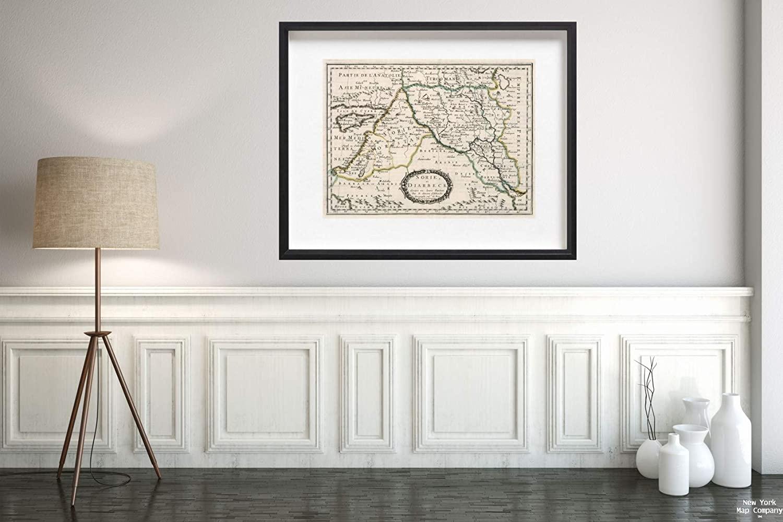 1652 Regional Atlas Map|Sorie, et Diarbeck : divises en leurs Parties|Vintage Fine Art Reproduction|Size: 18x24|Ready to Frame