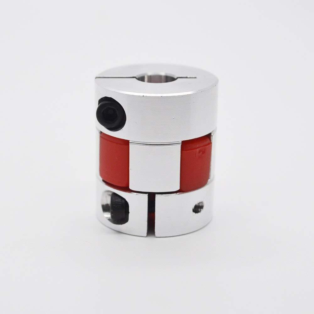 Fevas 4pcs/lot 5x6mm Shaft Coupling Aluminium Flexible Plum Coupling Coupler D20 L30