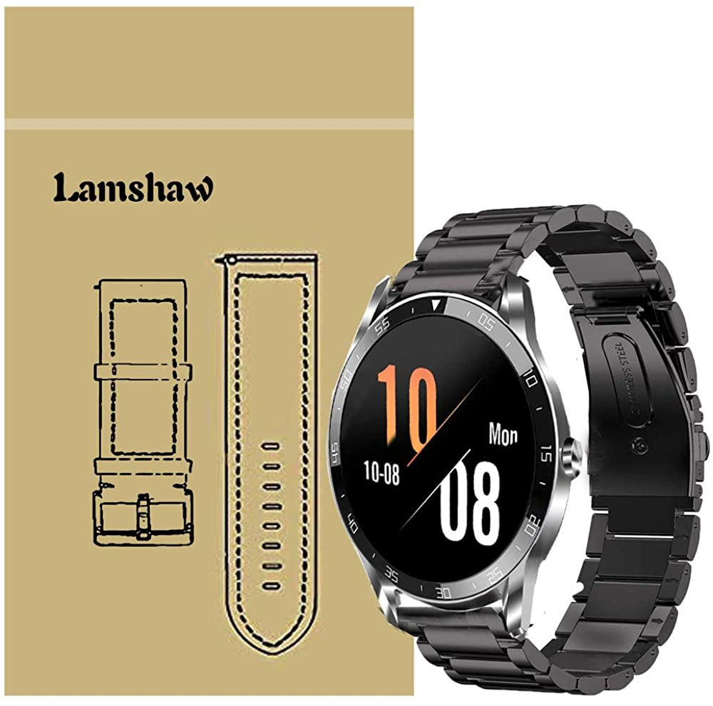 Compatible for Blackview X1 Bands, Blueshaw Stainless Steel Metal Replacemet Straps Compatible for Blackview X1 Smart Watch