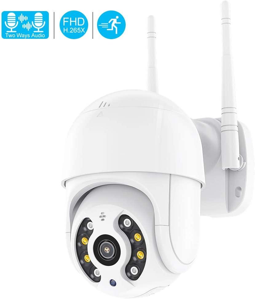 New Mini WiFi 1080P PTZ Wireless IP Camera Waterproof Speed Dome Super Mini WiFi Security CCTV Camera Audio AI Human Detection (Camera 128GB Card)