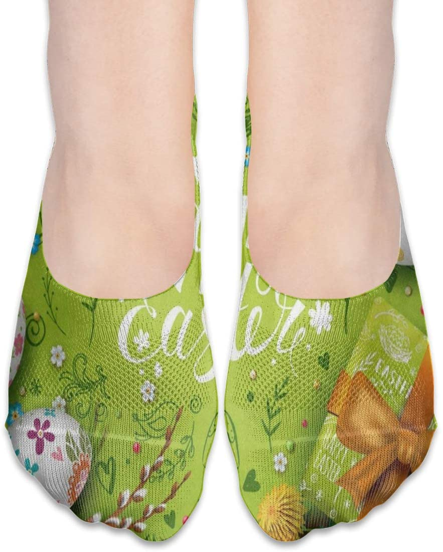 No Show Socks Happy Easter Egg Spring Fabulous Womens Low Cut Sock Athletic Invisible Socks for Girl