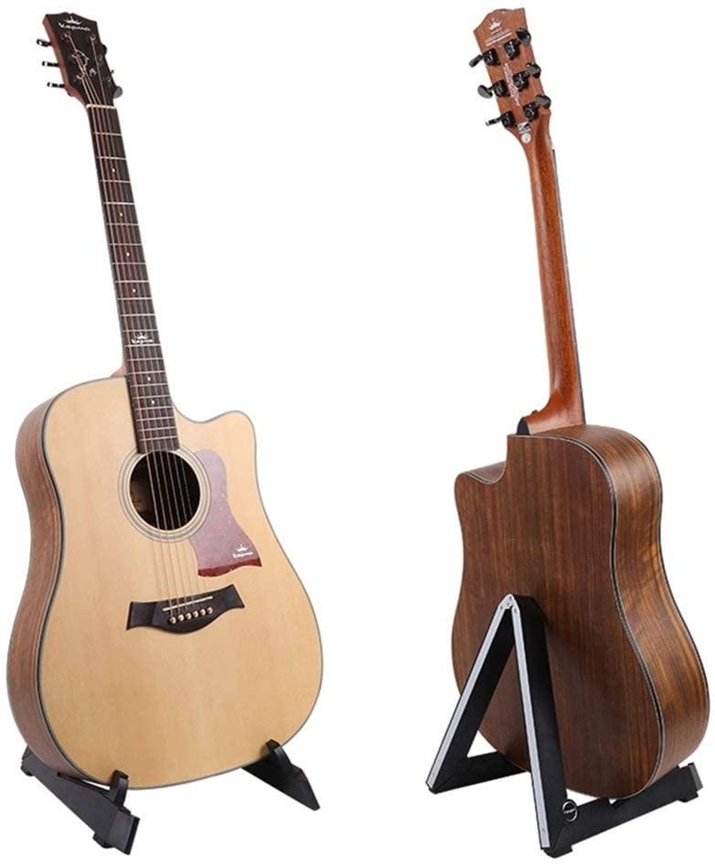 Guitar Back Support Foldable Guitar Stand Vertical Acoustic Guitar Shelf Acoustic Guitar Stand Ukulele (Color : Black)