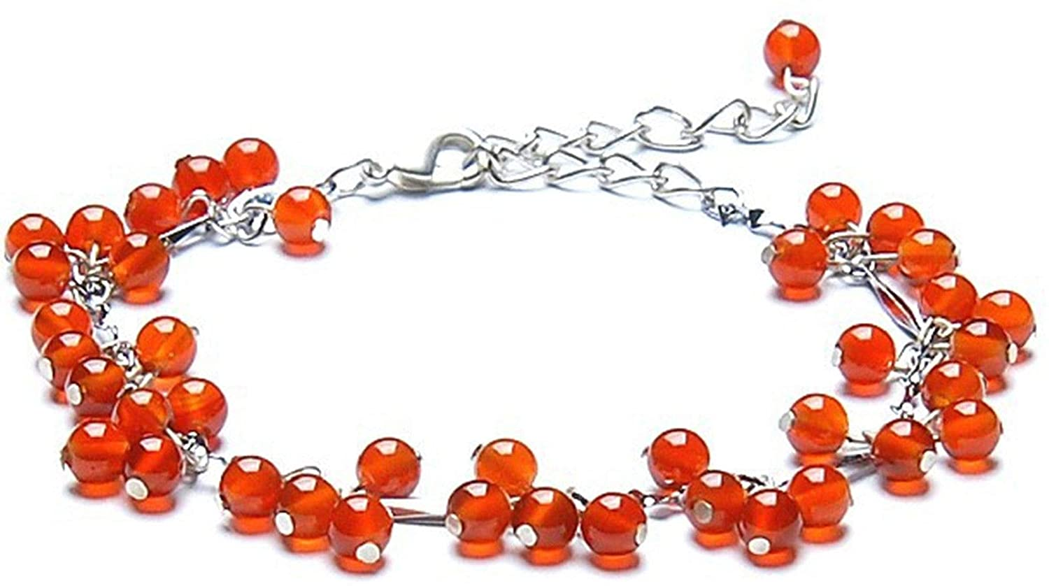 Feng Shui Handmade Red Agate Beads Bracelet Amulet for Protection and Healing