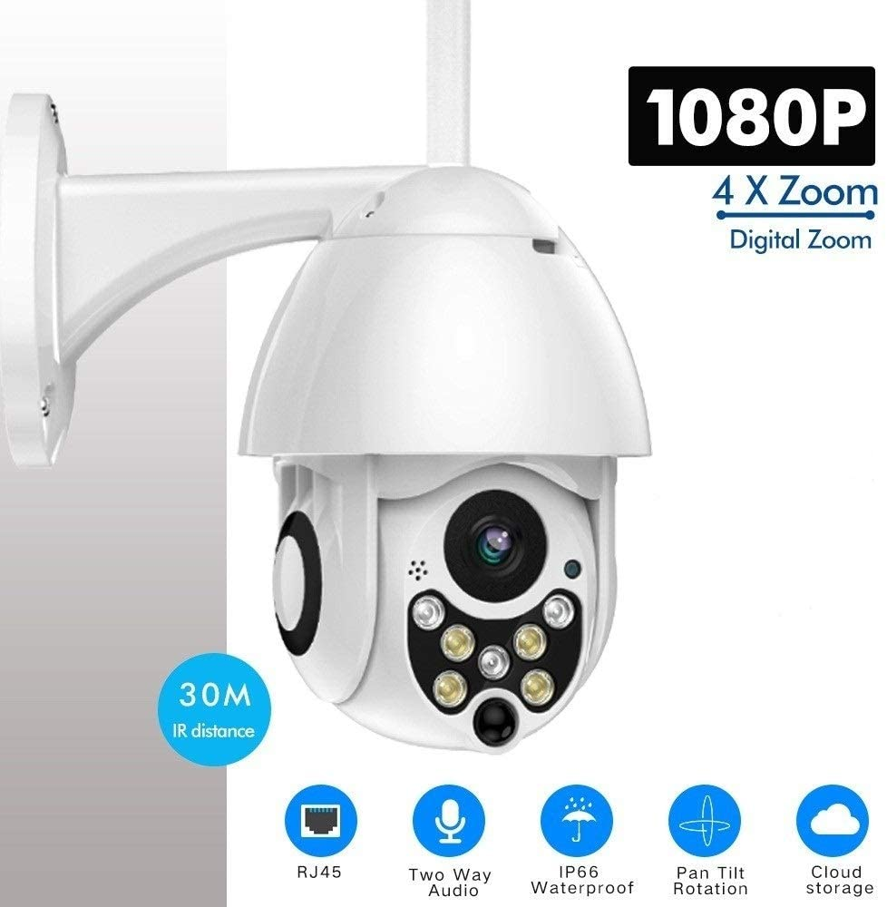 XIAOTIAN PTZ Wireless IP Camera WiFi Outdoor 1080P Speed Dome Security Camera CCTV Pan Tilt 4X Zoom IR Audio Surveillance Camera