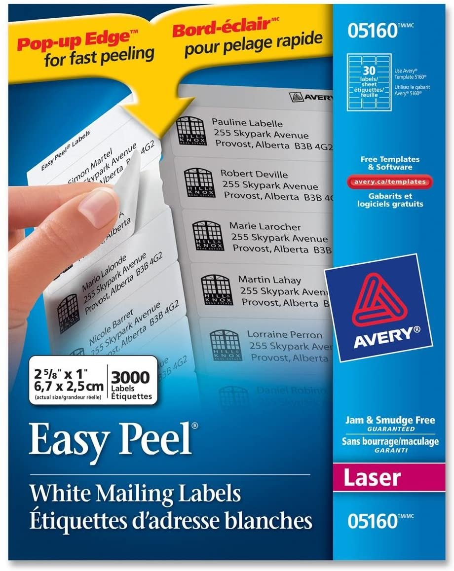 Avery Easy Peel White Address