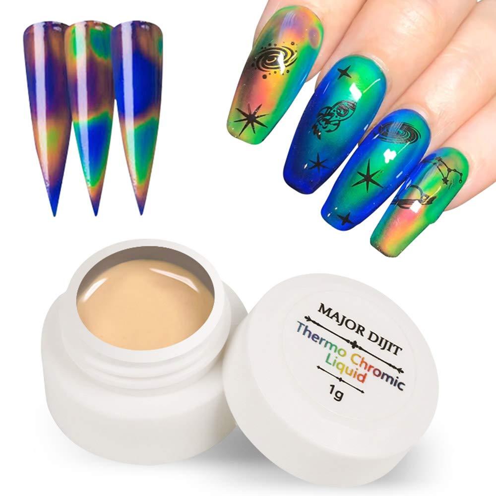 Gel Nail Polish Anself Color Changing Gel Nail Polish Thermochromic Liquid Gel Polish Nail Art UV Temperature Changing Nail Polish