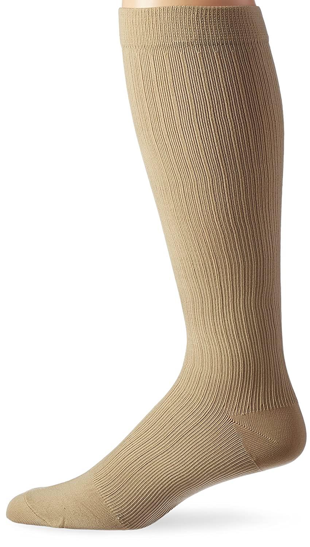 Activa Men's 20-30 mmHg Microfiber Dress Socks, Tan, Medium