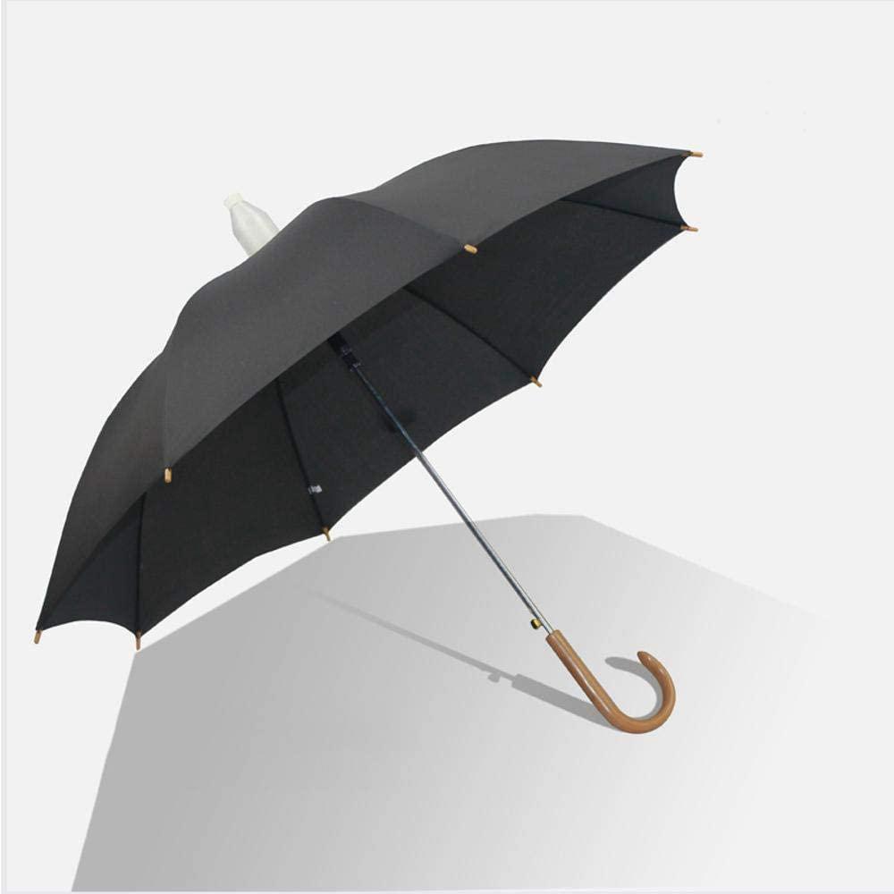 HONGGE 8 Bone Business Solid Color Umbrella Lightweight Straight Rod Waterproof Long Handle Bent-Handle Umbrella