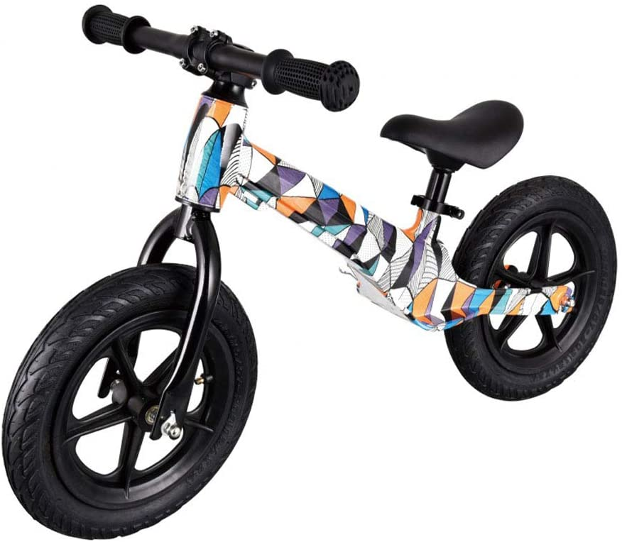 ZJUAN Children's Scooter,Balance Bike Scooter,2- Years Old Kindergarten Baby Scooter,Inflatable Tire-Magnesium Alloy Style Printing Process A 53x85x45cm
