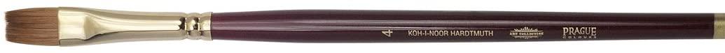 KOH-I-NOOR 9936 Flat Brush, Kolinsky, Gold, Size 4