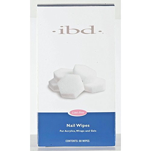 IBD Nail Lint Free Wipes, 80 Count