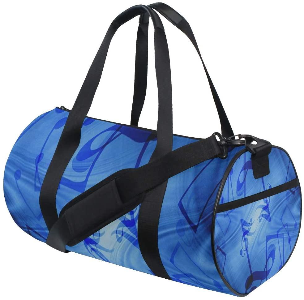 SLHFPX Duffel Bags Music Note Womens Gym Yoga Bag Fun Tote Beach Bag for Men