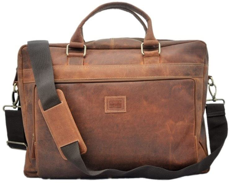 17 Inch Leather Satchel/Leather Laptop Bag/Vintage Leather Briefcase/Rustic Briefcase/Mens Briefcase Genuine Real Leather