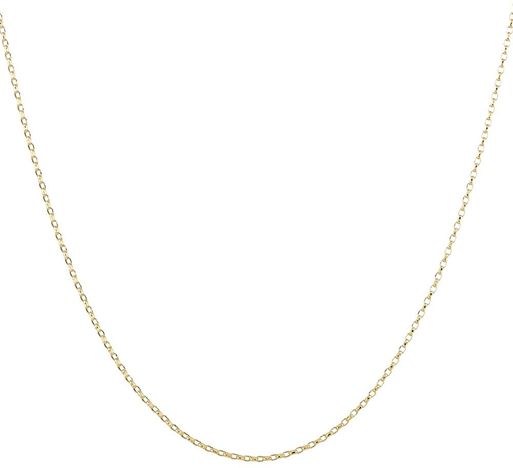 2mm thick 18K gold plated on solid sterling silver 925 Italian BELCHER rolo cable link marine chain necklace bracelet anklet - 15, 20, 25, 30, 35, 40, 45, 50, 55, 60, 65, 70, 75, 80, 85, 90, 95, 100cm