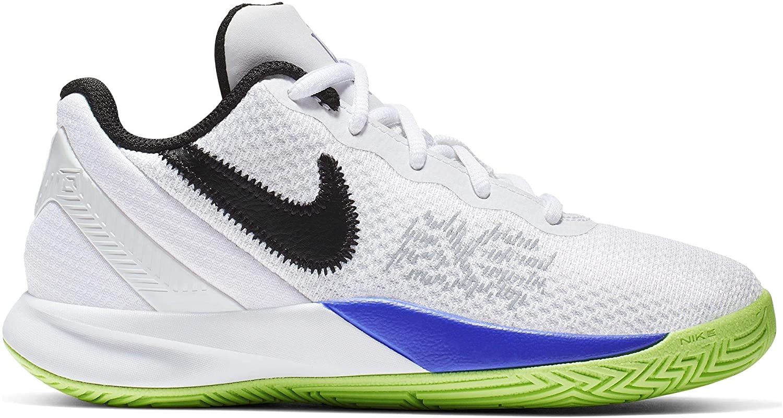 Nike Boy's Kyrie Flytrap II Basketball Shoe White/Black/Lime Blast/Persian Violet Size 12 Kids US