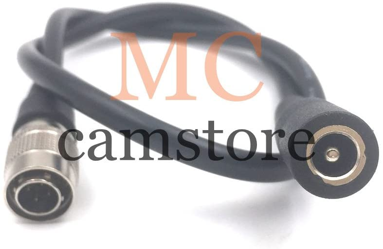 MCCAMSTORE 4PIN HRS Male Connector to DC2.5 Jack for Sound Devices 633/ Sound Devices 644/ Sound Devices 688 / for Zoom F8 / for Blackmagic Cinema Camera 4k 60cm