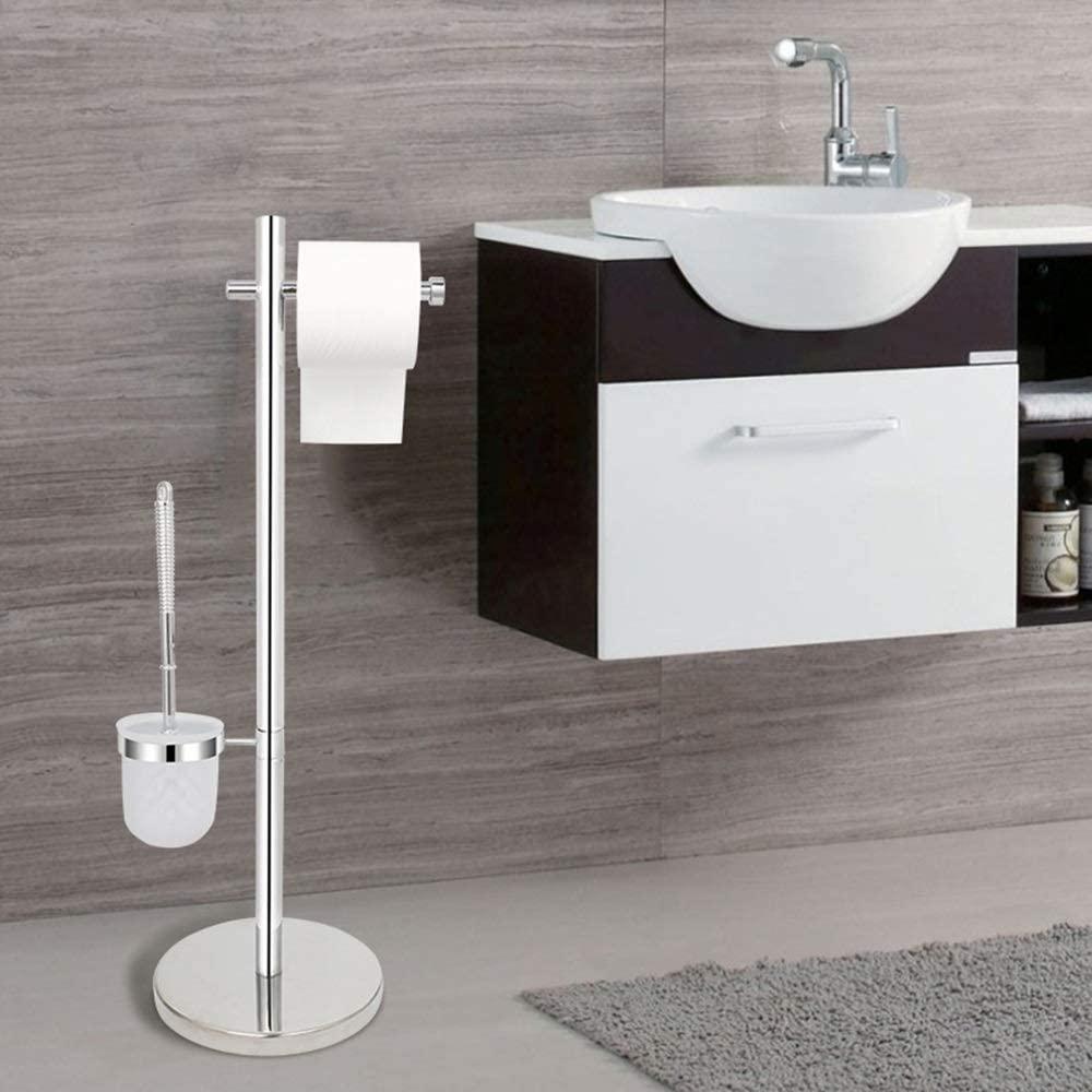 Chenteshangmao Tissue Holder-Toilet Brush Holder, Toilet Roll Holder, Toilet Brush Holder Set, Stainless Steel Towel Holder-7120CM Personality