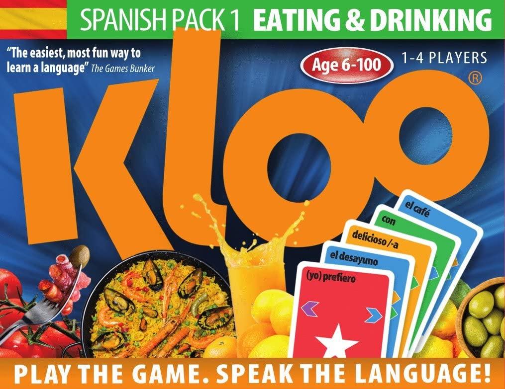 KLOO's Learn to Speak Spanish Language Card Games Pack 1 (Decks 1 & 2)