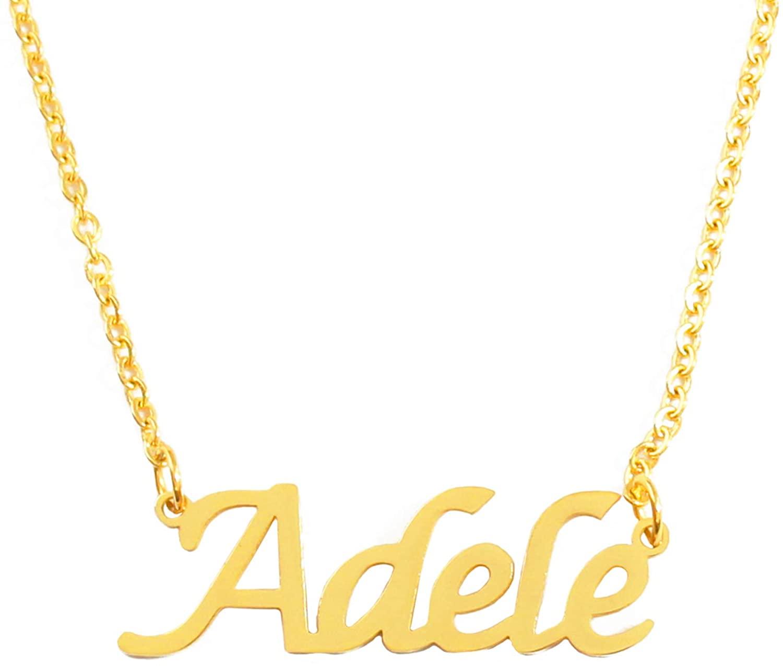 Kigu Adele Custom Name Necklace Personalized - 18ct Gold Plated