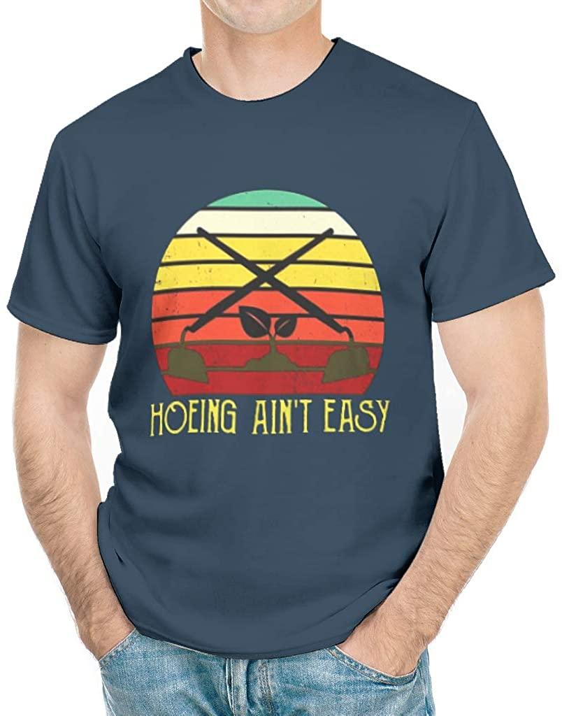 Hoeing Aint Easy Shirt Vintage Print Cotton Crewneck Short Sleeve Farming Tee Shirts