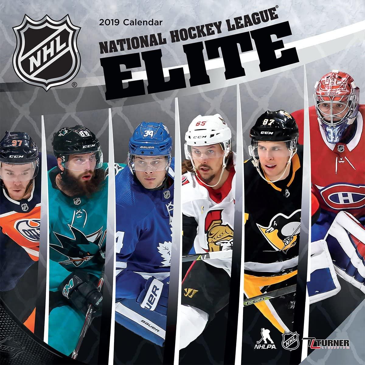 Turner Sport NHL Elite 2019 12X12 Wall Calendar (19998011972)