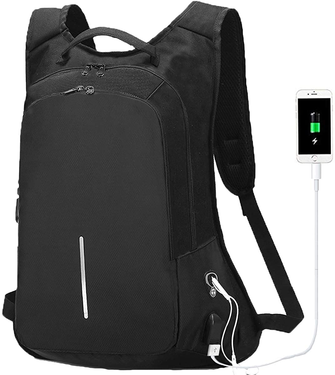 Anti-theft Laptop Backpack 15.6 Inch, Waterproof College Bookbag with Usb Charging Port for Men Women