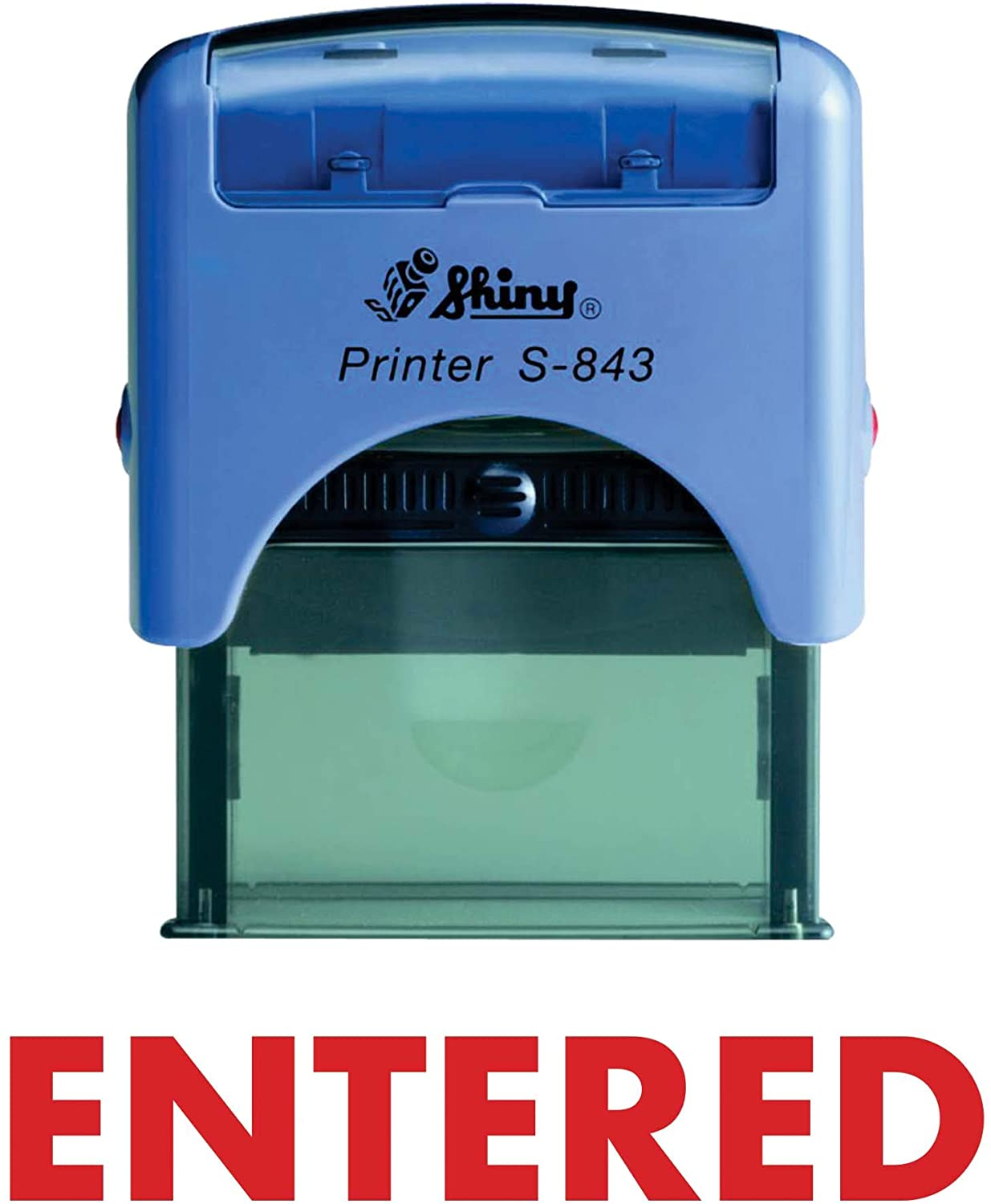 Entered Shiny Self Inking Rubber Stamp Office Stationary