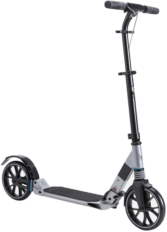 WTTO Kick Scooter, 3 Adjustable Height Scooters for Adults Folding City Scooter Double Suspension 220 LB Max Load and Practical Choice for Any Teen or Adult,Blue