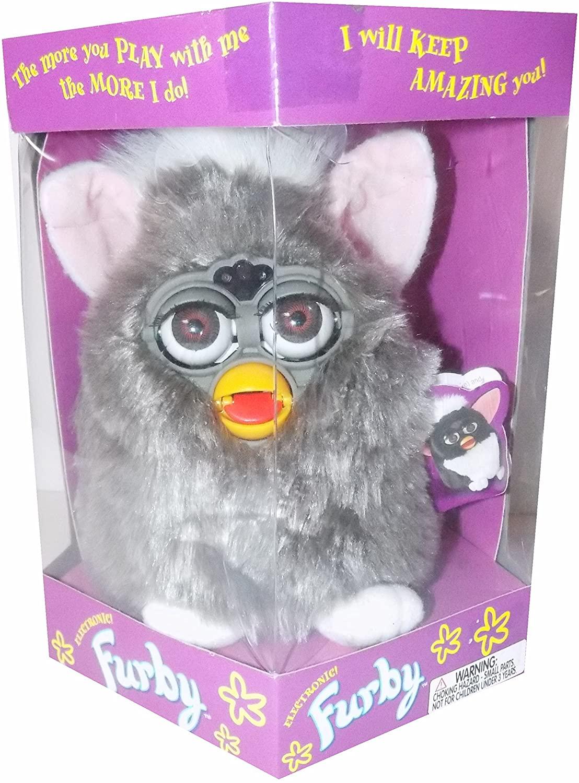 Furby Grey with Brown Eyes, Model 70-800, Original 1998 Version