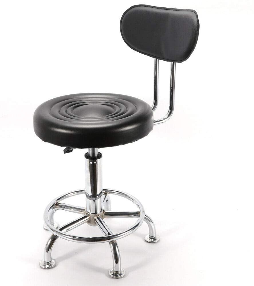 Phutto Googluck Metal Frame Bar Stools Adjustable Hydraulic PU Leather Swivel Dining Chair