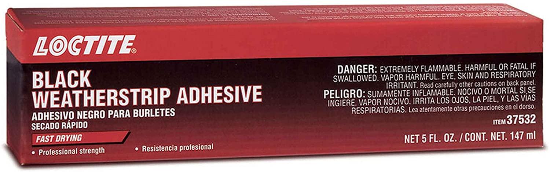 Loctite 495541 Black Weatherstrip Adhesive Tube, 5-fl. oz.