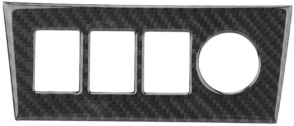 KIMISS Carbon Fiber Sticker Center Console Cigarette Lighter Panel Trim Cover Interior Car Accessories For Toyota RAV4 06-12