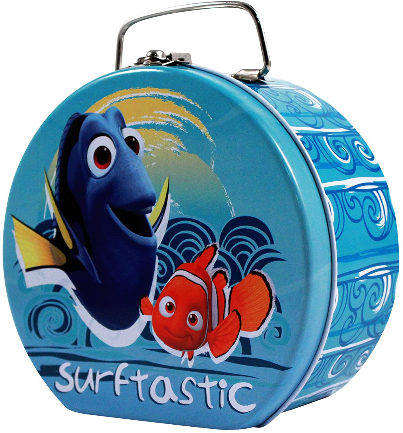 Finding Dory Semi-round Shaped Tin Box With Clasp & handle