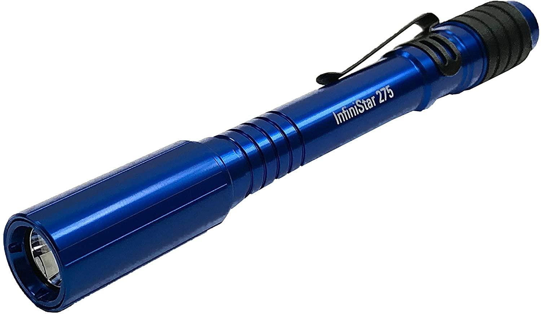 TerraLUX InfiniStar LED Li-ion Micro-USB Rechargeable Penlight - 275 Lumens - High CRI LED - Royal Blue