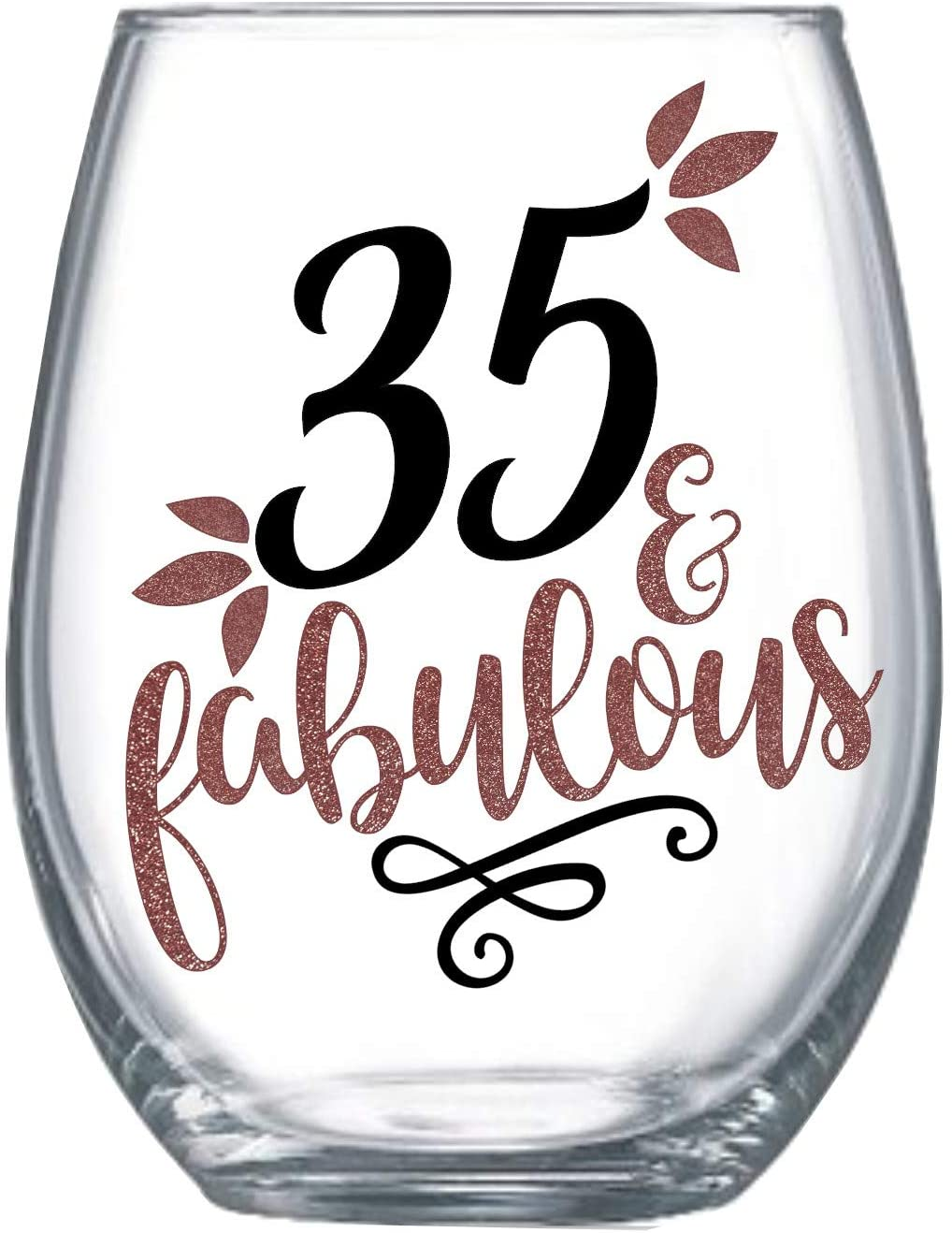 Zoey Christina 35th Birthday Gifts for Women Stemless Wine Glass for Her 0081