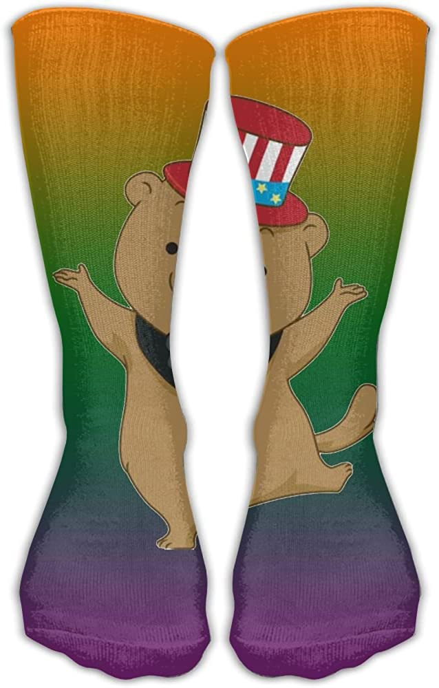 JINYOUR Groundhog Celebration Womens Casual Athletic Stockings 30CM Long Socks
